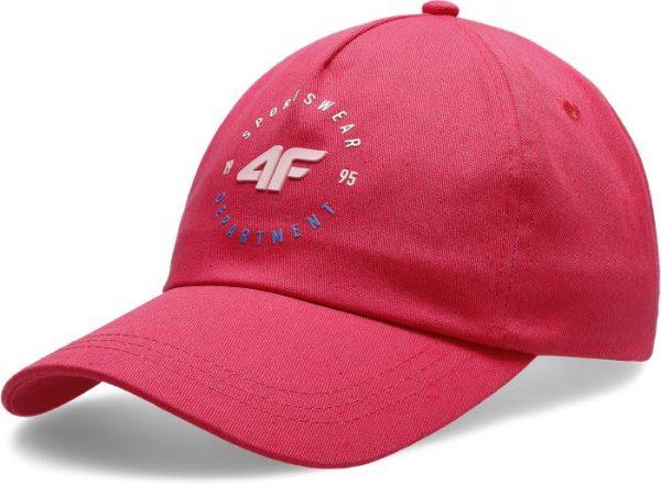 czapeczka z daszkiem damska 4f h4l20-cad007 czerwona przód