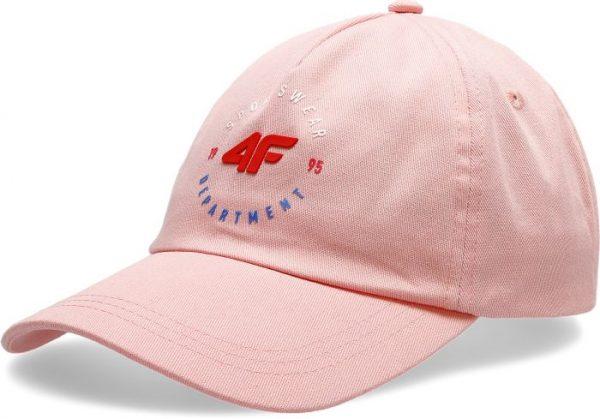 czapeczka z daszkiem damska 4f h4l20-cad007 różowa przód