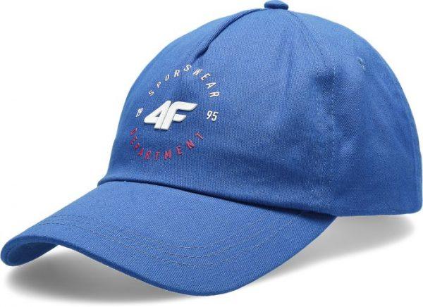 czapeczka z daszkiem damska 4f h4l20-cad007 niebieska przód