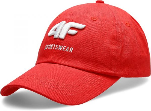 czapka z daszkiem męska 4f h4l20-cam009 czerwona przód