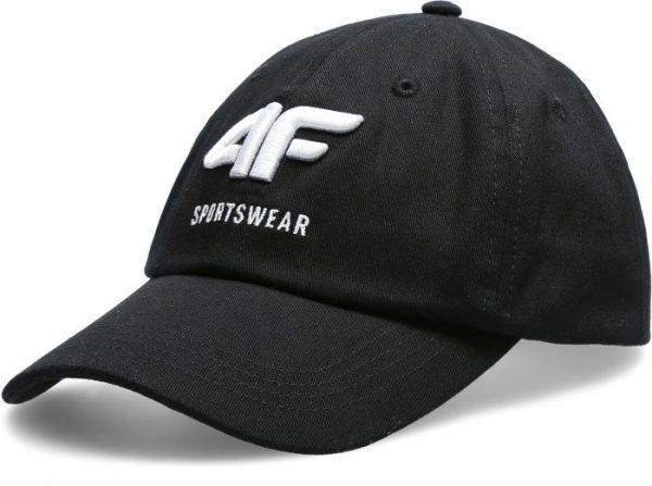 czapka z daszkiem męska 4f h4l20-cam009 czarna przód