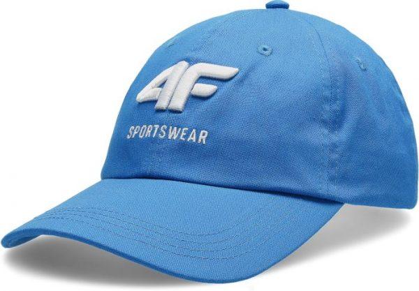 czapka z daszkiem męska 4f h4l20-cam009 niebieska przód