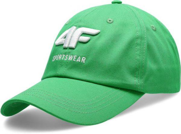 czapka z daszkiem męska 4f h4l20-cam009 zielona przód