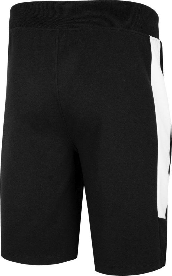 Krótkie spodenki dresowe męskie h4l20-skmd002 czarne tył