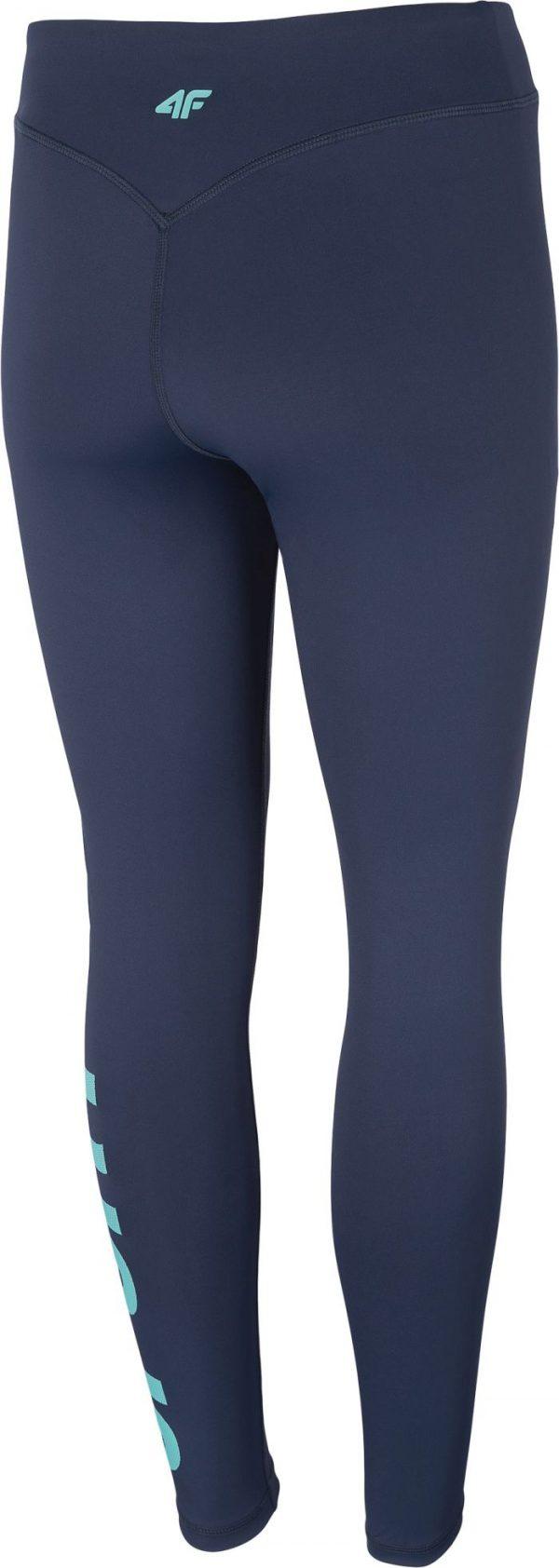 legginsy spodnie damskie funkcyjne 4f h4l20spdf007 granatowe tył