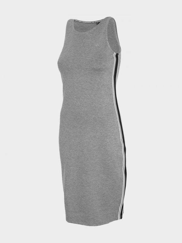 sukienka prosta 4f h4l20-sudd020 szara
