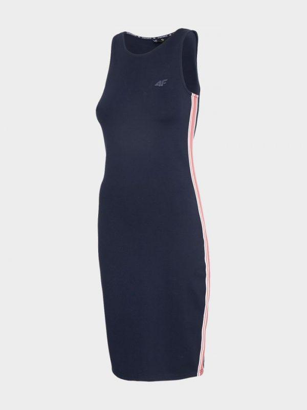 sukienka prosta 4f h4l20-sudd020 granatowa