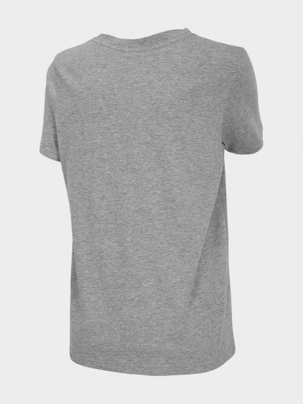 t-shirt damski 4f oversize h4l20-tsd011 szary tył