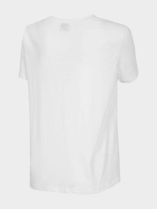 t-shirt damski 4f oversize h4l20-tsd011 biały tył