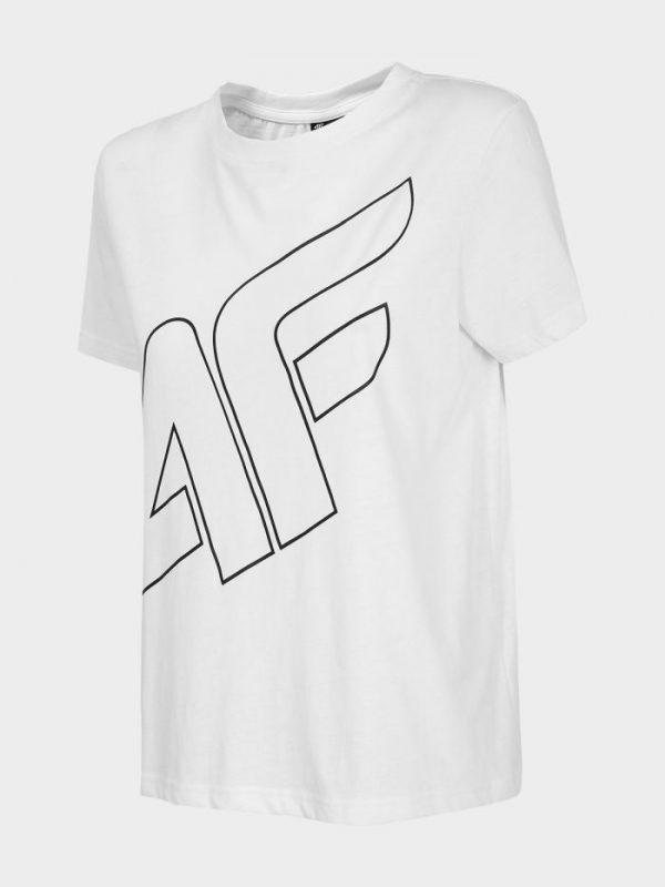 t-shirt damski 4f oversize h4l20-tsd011 biały przód
