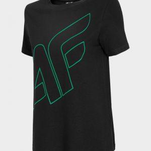 t-shirt damski 4f oversize h4l20-tsd011 czarny przód