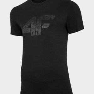 t-shirt 4f tsm012 czarny przod