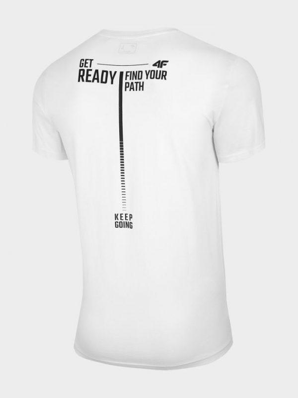 t-shirt męski 4f tsm021 biały tył