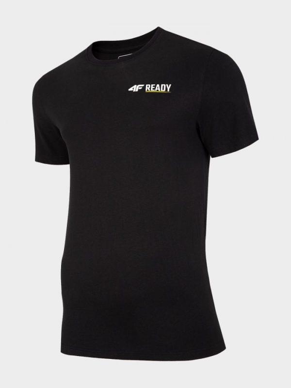 t-shirt męski 4f tsm021 czarny przód