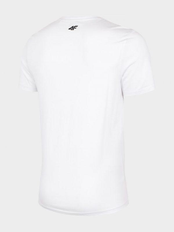 t-shirt męski 4f h4l20-tsm032 biały tył