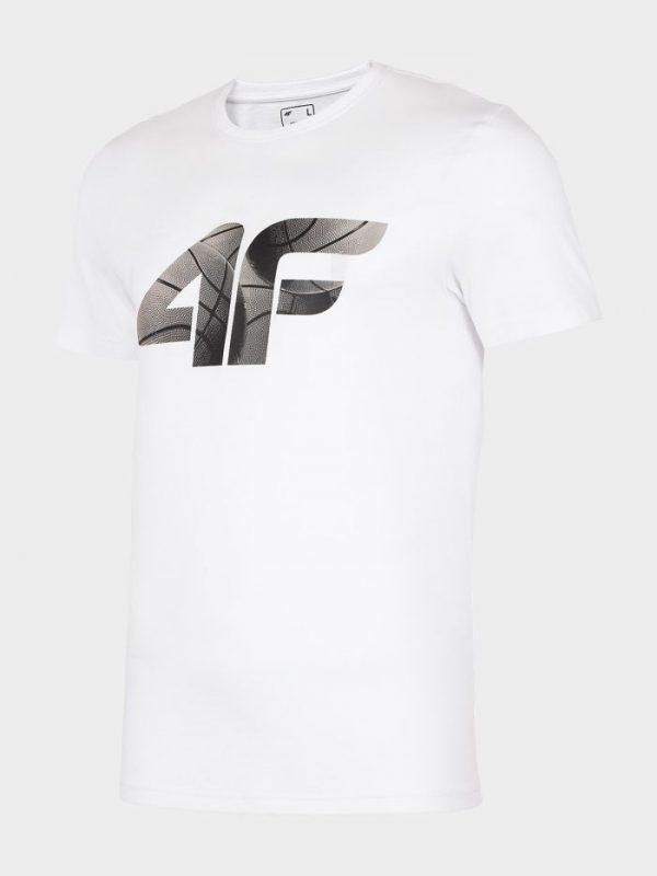 t-shirt męski 4f h4l20-tsm032 biały przód