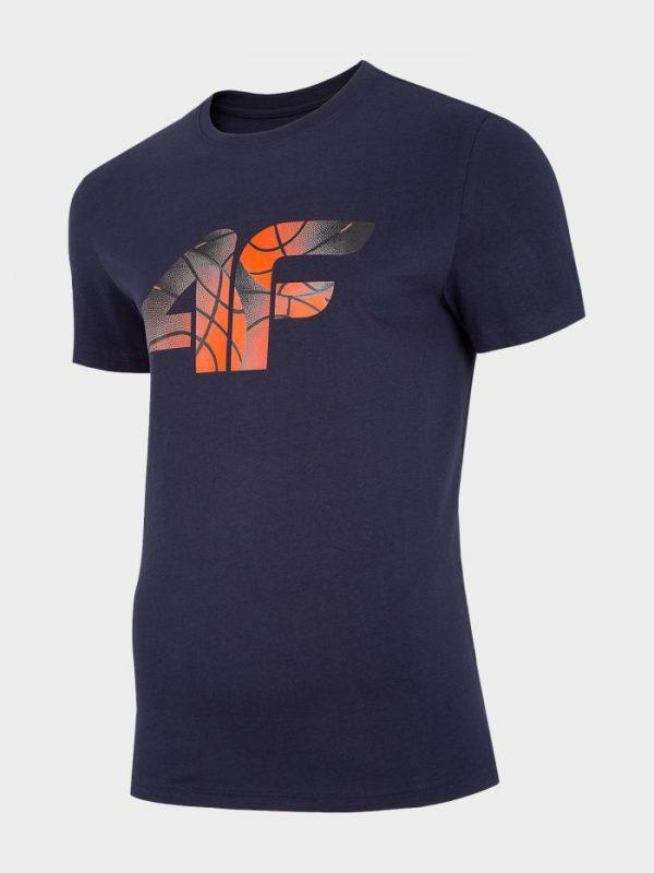t-shirt męski 4f h4l20-tsm032 front granat