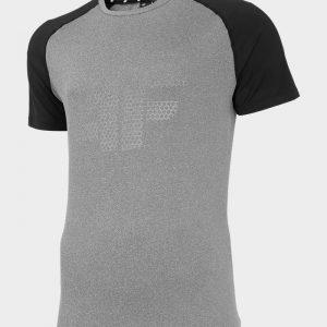 koszulka męska funkcyjna h4l20-tsmf010 ciemnoszara przód