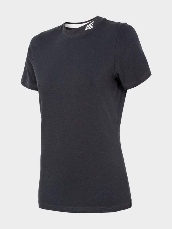 koszulka damska ze ściągaczem pod szyją 4f h4l20-tsd013 granatowa przód