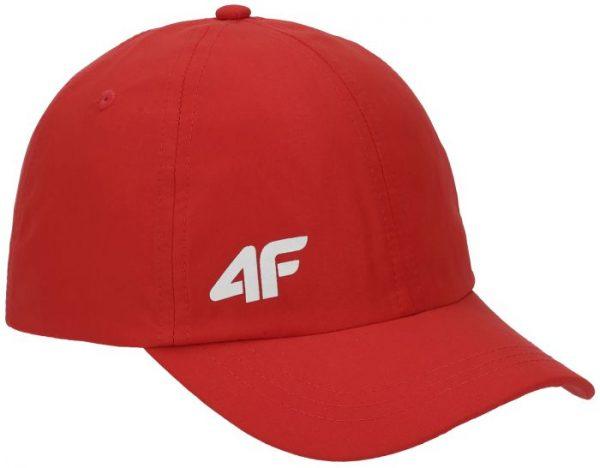 czapka z daszkiem chłopięca 4f hjl20-jcam004 czerwona