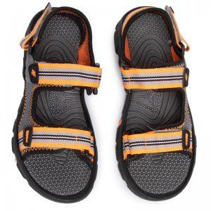 sandały chłopięce 4f hjl20-jsam003 szaropomarańczowe przód