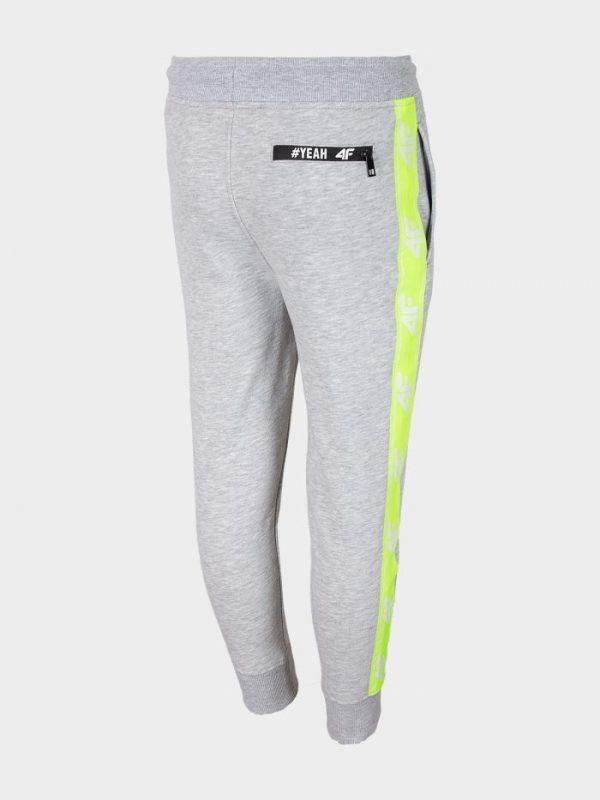 spodnie dresowe chłopięce 4f hjl20-jspmd002 szare tył