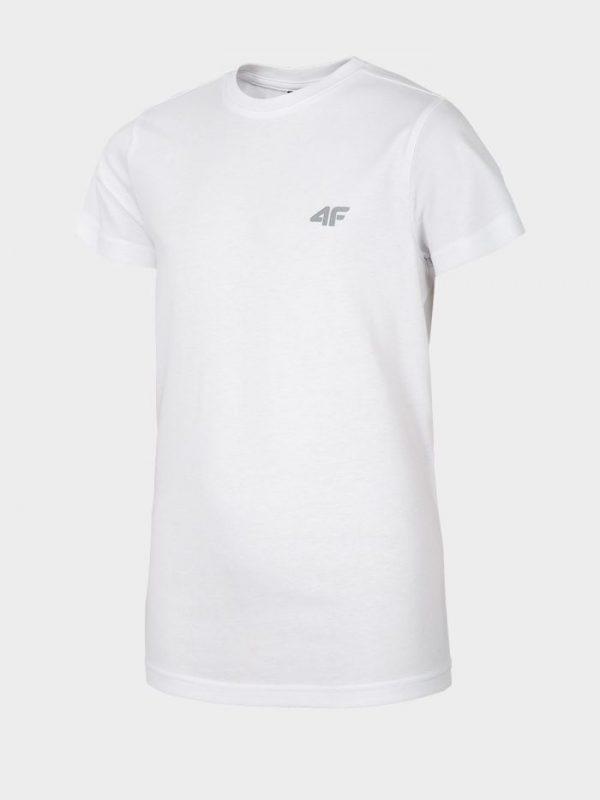 t-shirt chłopięcy 4f hjl20-jtsm023 biały przód