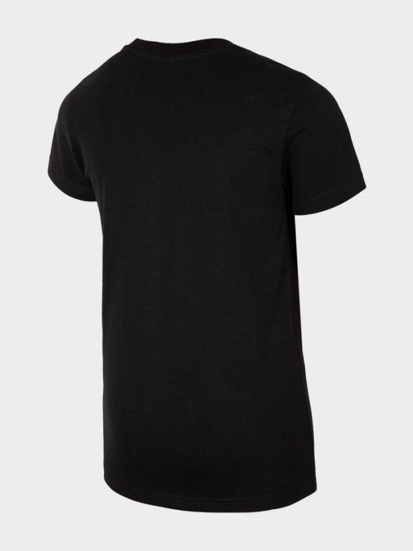 t-shirt chłopięcy 4f hjl20-jtsm023 czarny tył