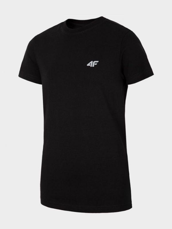 t-shirt chłopięcy 4f hjl20-jtsm023 czarny przód