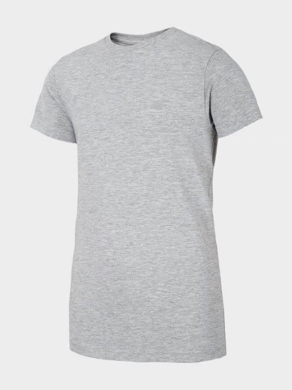 t-shirt chłopięcy 4f hjl20-jtsm023 szary przód