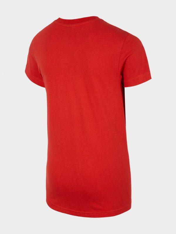 t-shirt chłopięcy 4f hjl20-jtsm023 czerwony tył