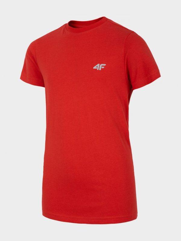 t-shirt chłopięcy 4f hjl20-jtsm023 czerwony przód